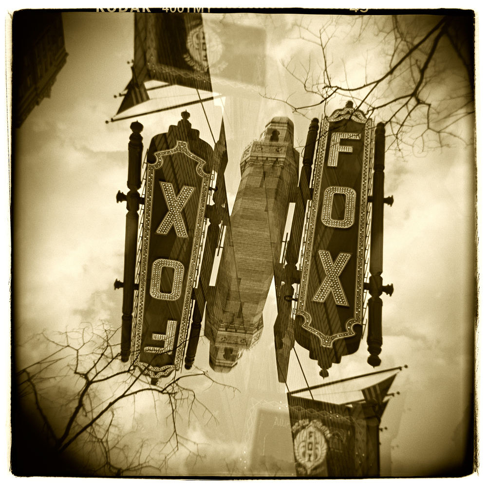 """Fox Theatre, Atlanta"" H1492 (In-camera Double Exposure)"