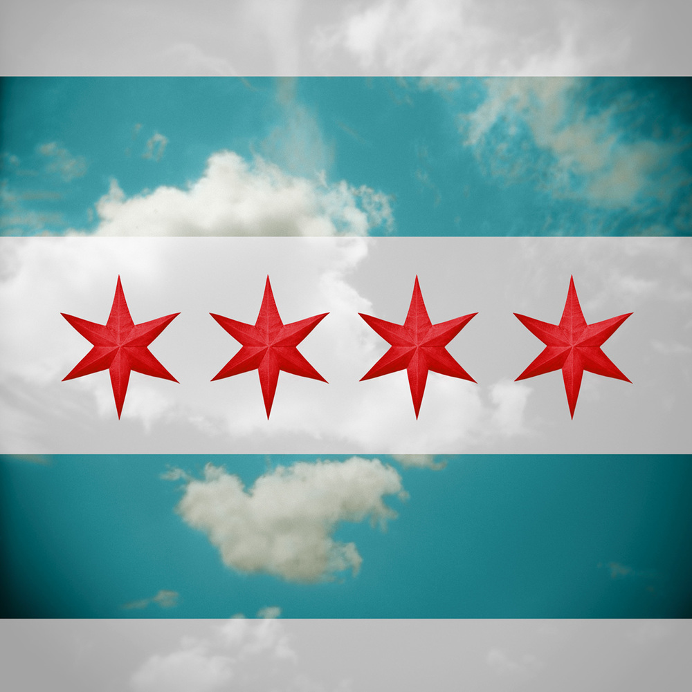"""Chicago Flag"" H1551"