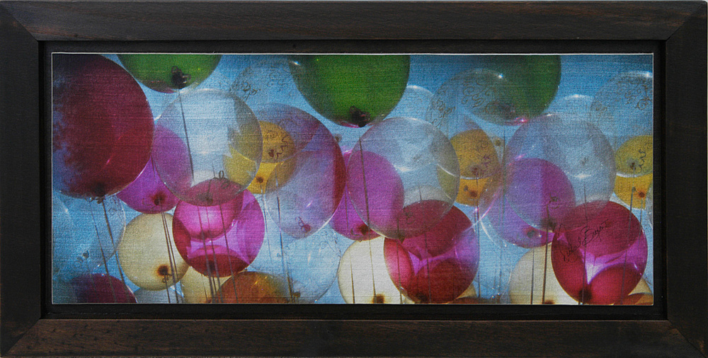 """Balloons"" (3 Overlapping Exposures) 12""x24"" FW13 $249"