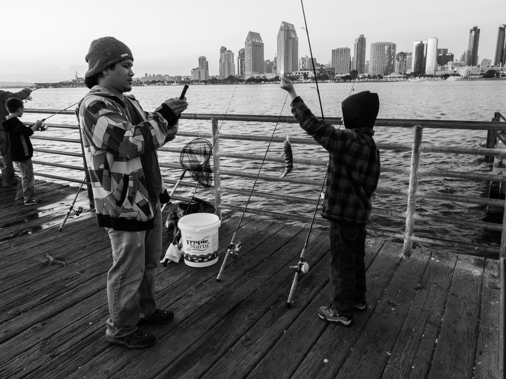 Father Son Fishing; San Diego, CA