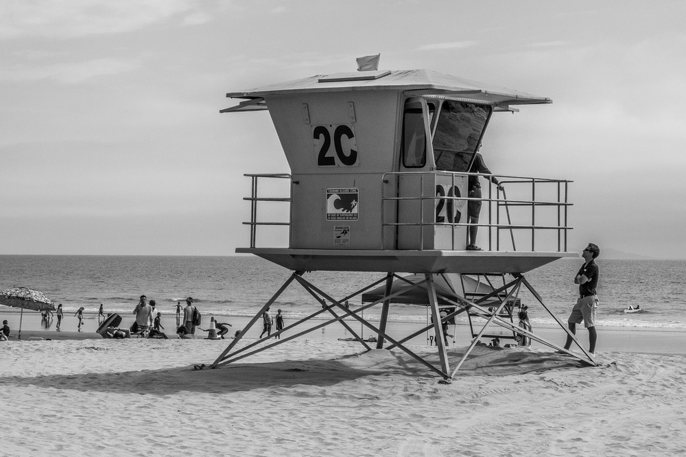 Lifegaurd on Duty; Coronado Island, CA