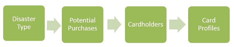 Conduct needs assessments, focusing on different disaster types and your card-related needs for each.