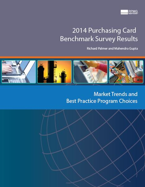 This is one of three reports that comprise the 2014 Purchasing Card Benchmark Survey Results by RPMG Research Corporation.