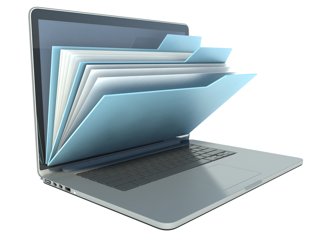 Use of an electronic interface file eliminates manual data entry by an end-user organization.