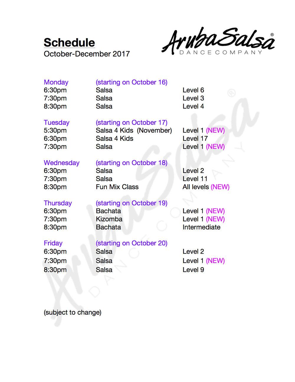 Schedule ArubaSalsa OCT-DEC 2017.jpg