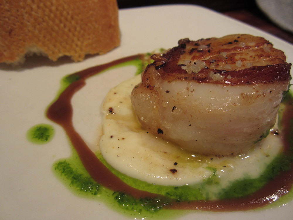 "scallops ""toro"" in San Sebastian, Spain"