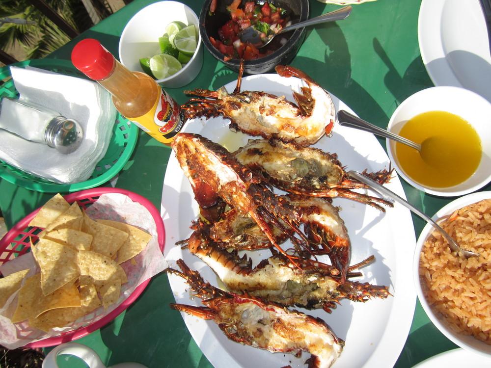 lobsters in Puerto Nuevo, Mexico
