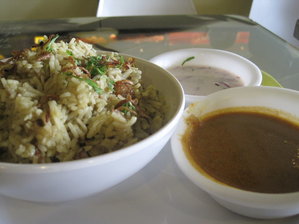 Mall biryani in Bangalore, India