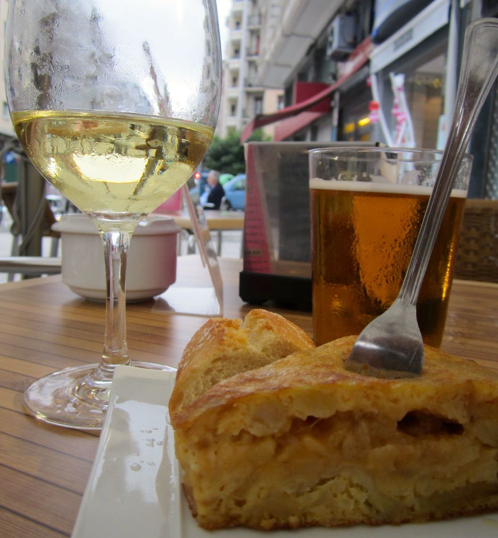 tortilla Espanola in San Sebastian, Spain