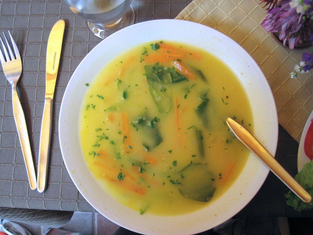 Quinoa soup in Aguascalientes, Peru