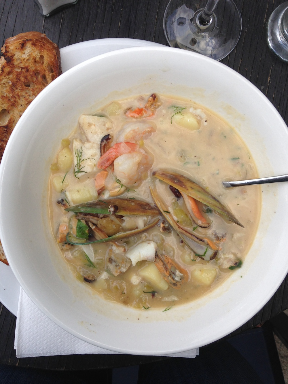 Seafood Chowder in Nelson, New Zealand