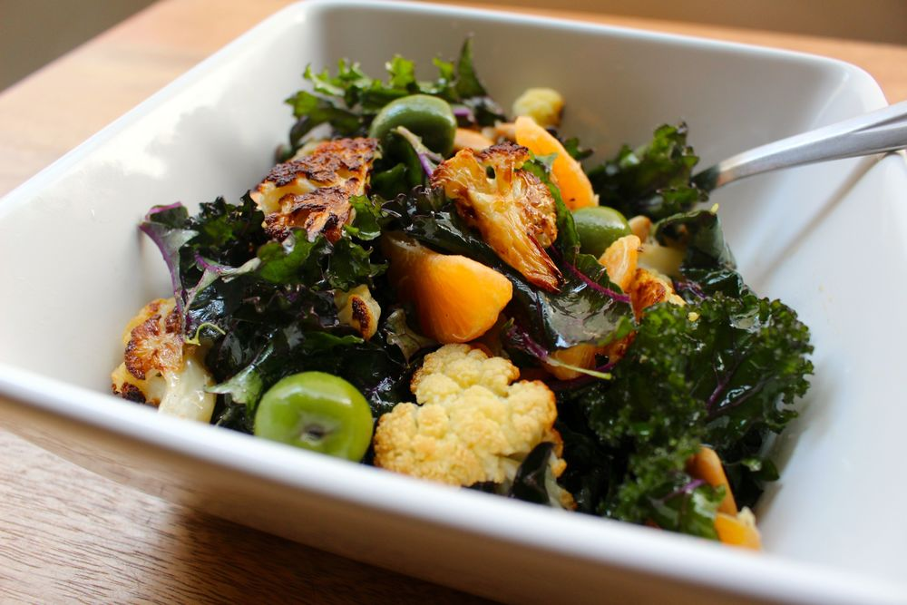 Spanish Kale and Cauliflower Salad