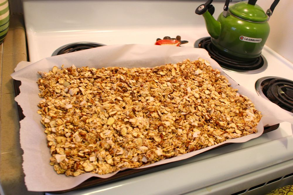 Deeply toasted granola doesn't need much sugar