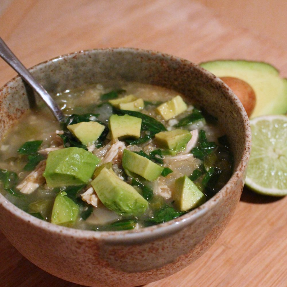 Chicken and quinoa soup, the ultimate healthy comfort food