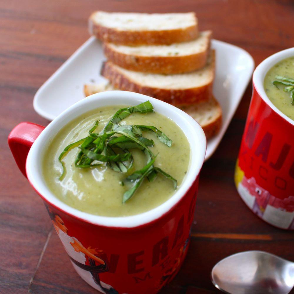Easy Zucchini Soup with Basil-Borrowed Salt