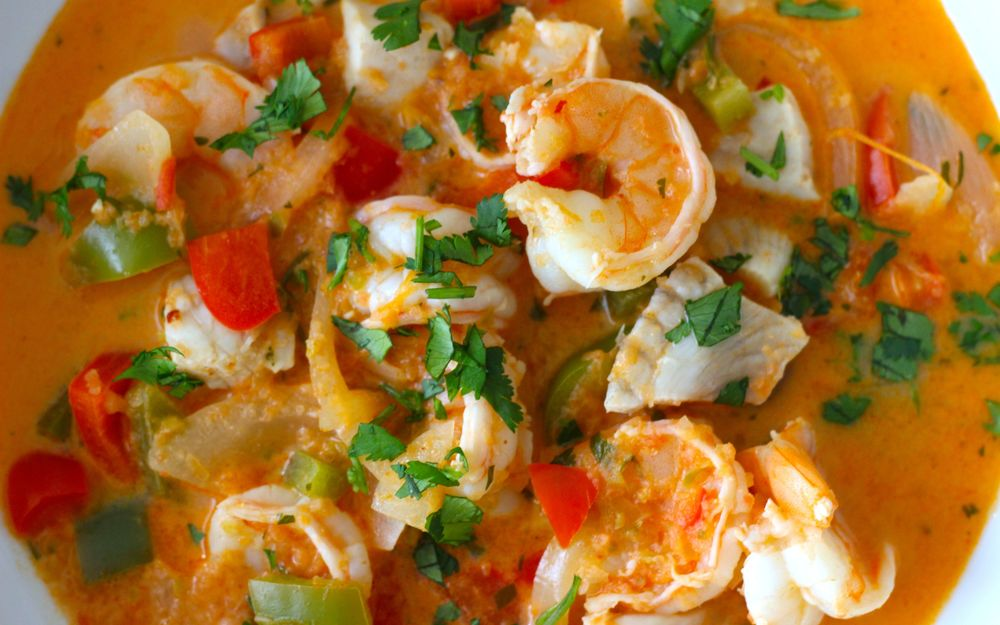 Moqueca - Brazilian Seafood Stew-Borrowed Salt