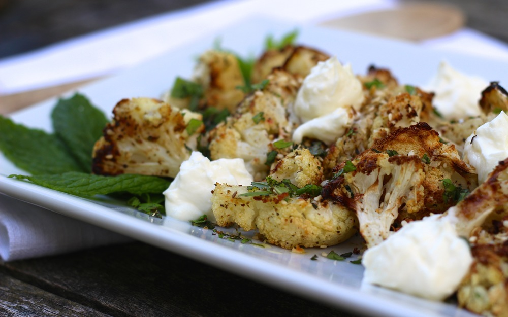 Cauliflower-Hazelnuts-Labneh