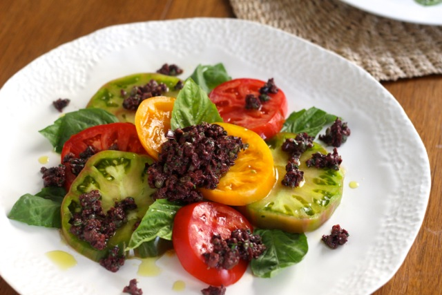 Tomato and Tapenade Salad - Borrowed Salt