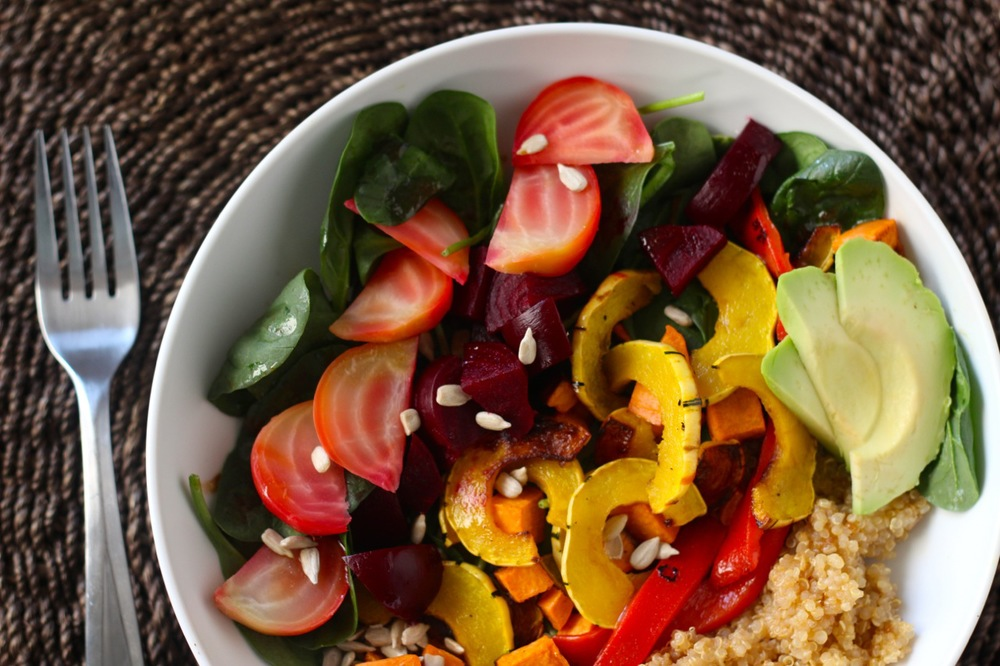 Roasted Roots Rainbow Salad