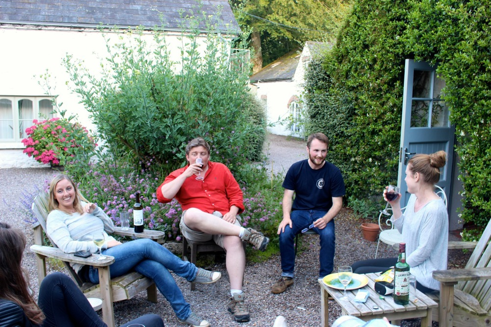 Happy hour at the Play House, our Ballymaloe home