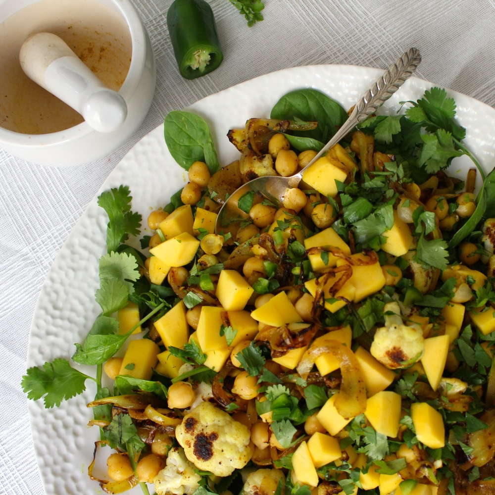 Mango and Curried Chickpea Salad