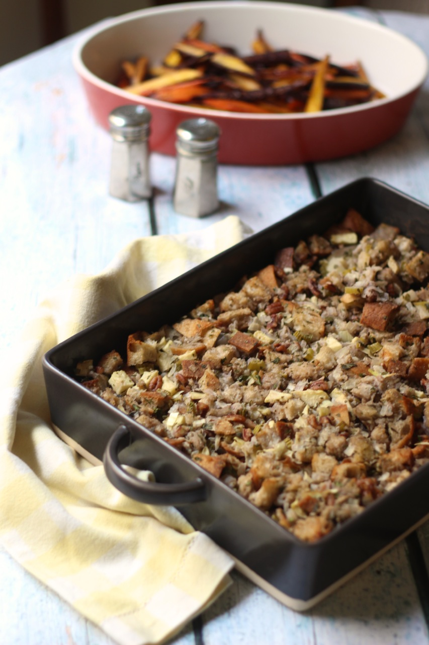 Vegetarian Miso Spiked Stuffing - Borrowed Salt