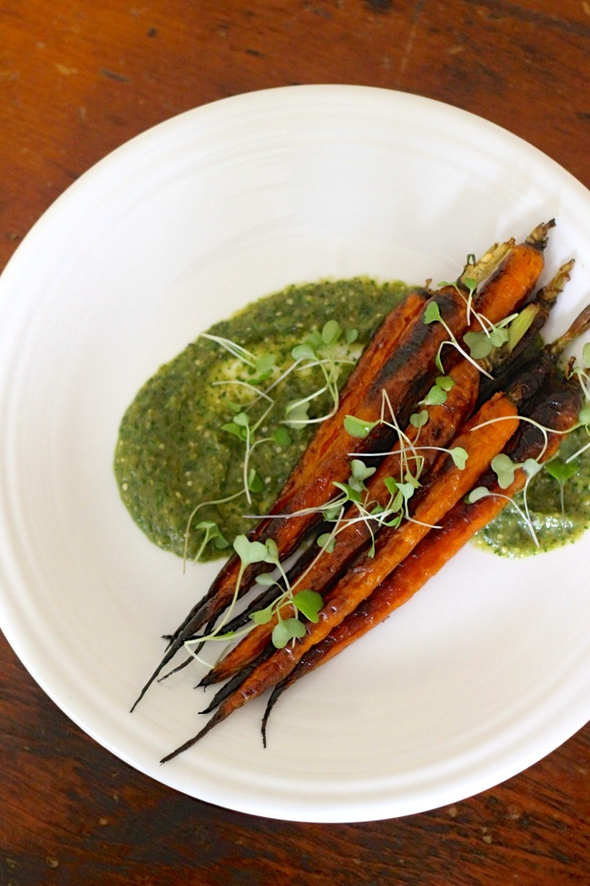 Carrots with Tomatillo Sauce - Borrowed Salt