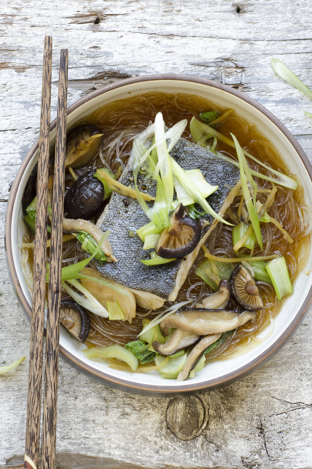 Braised Fish with Bok Choy in Shiitake Broth - Borrowed Salt