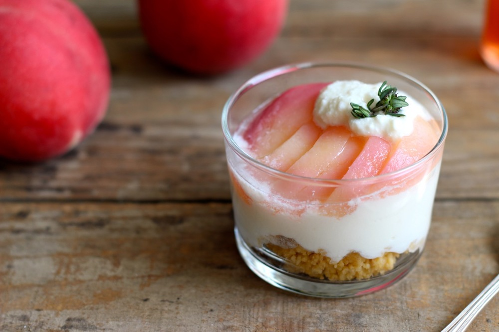 Peach and Ricotta Cheesecake Parfaits
