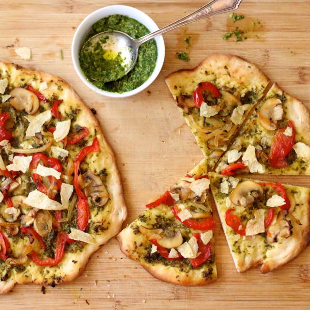 Pesto Crunch Pizza