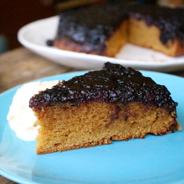 Blackberry Upside-Down Cake with Red Wine Caramel