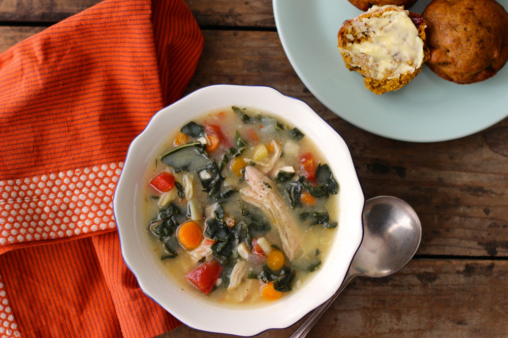 Turkey Soup with Kale and Potatoes