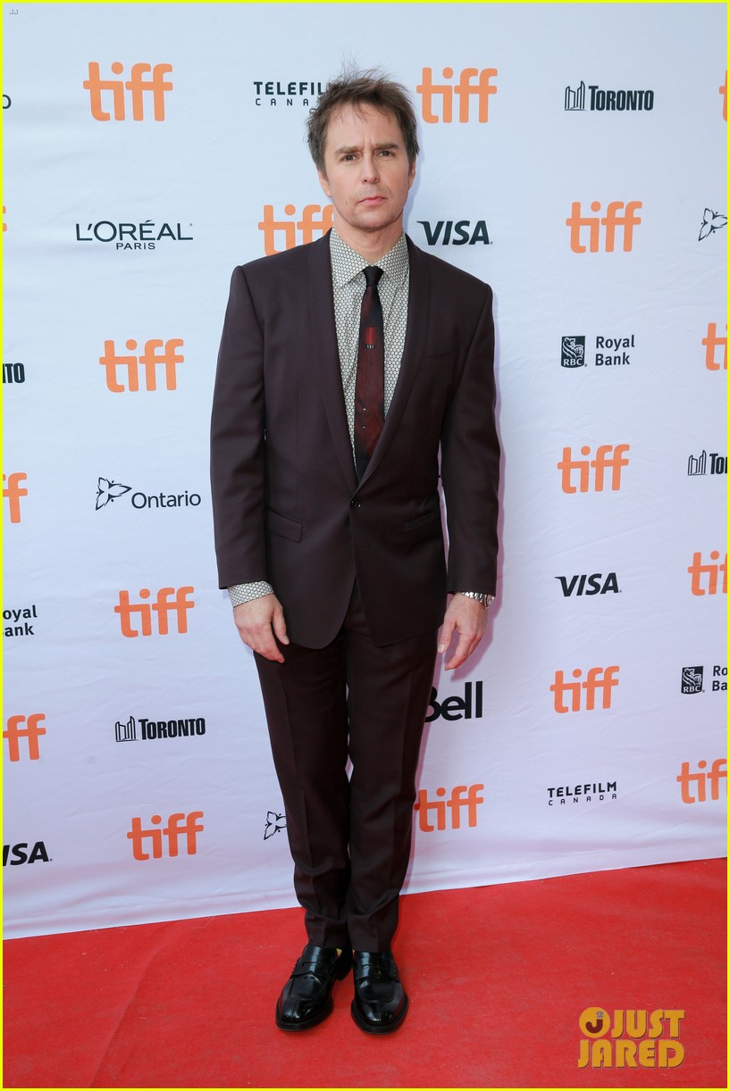 Sam RockWell wearing vintage tie via TTV.