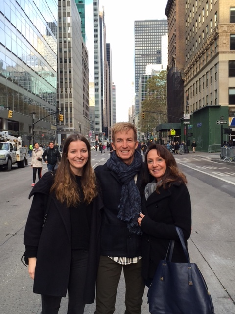 Jonathon, Rebecca and Ariana enjoying a winter day in New York.