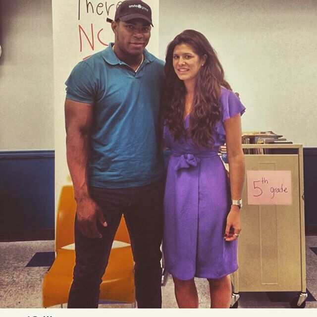 Oh the places you'll go... #TBT haha my hair! @yasielpuig and I worked a project for @unite4good back in 2014! #TEAMEMAR #YasielPuig