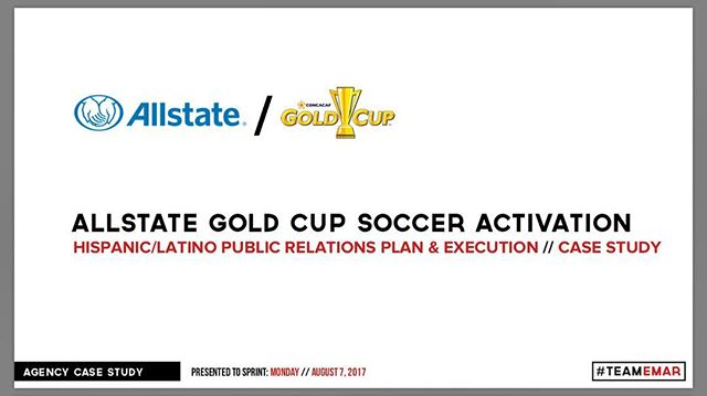 This past summer #TEAMEMAR got to work with @allstatelatino for the 2017 @goldcup ! #WeHadFun #GoldCup #TEAMEMAR #Allstate #ProtegeLaCopa