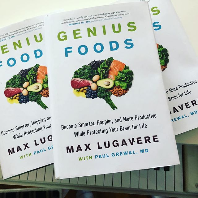 So proud of my friend @maxlugavere - I promise not to sneak pizza after we get dinner together any more. I bought extra so if you are looking to be enlightened and take better care of your body and brain better hit me.