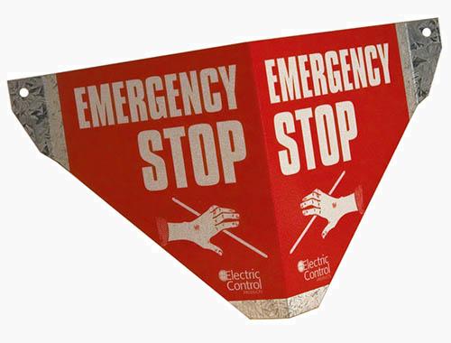 Safe-T-Sign: Tanda Pemberhentian Darurat.