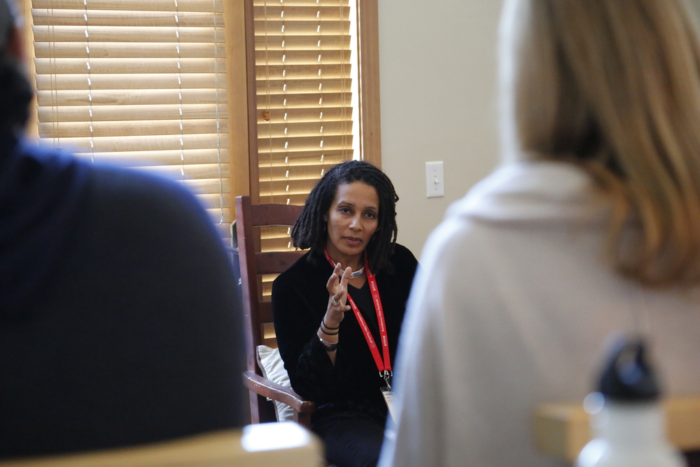 Tabitha Jackson of the Sundance Institute speaks to CMP members