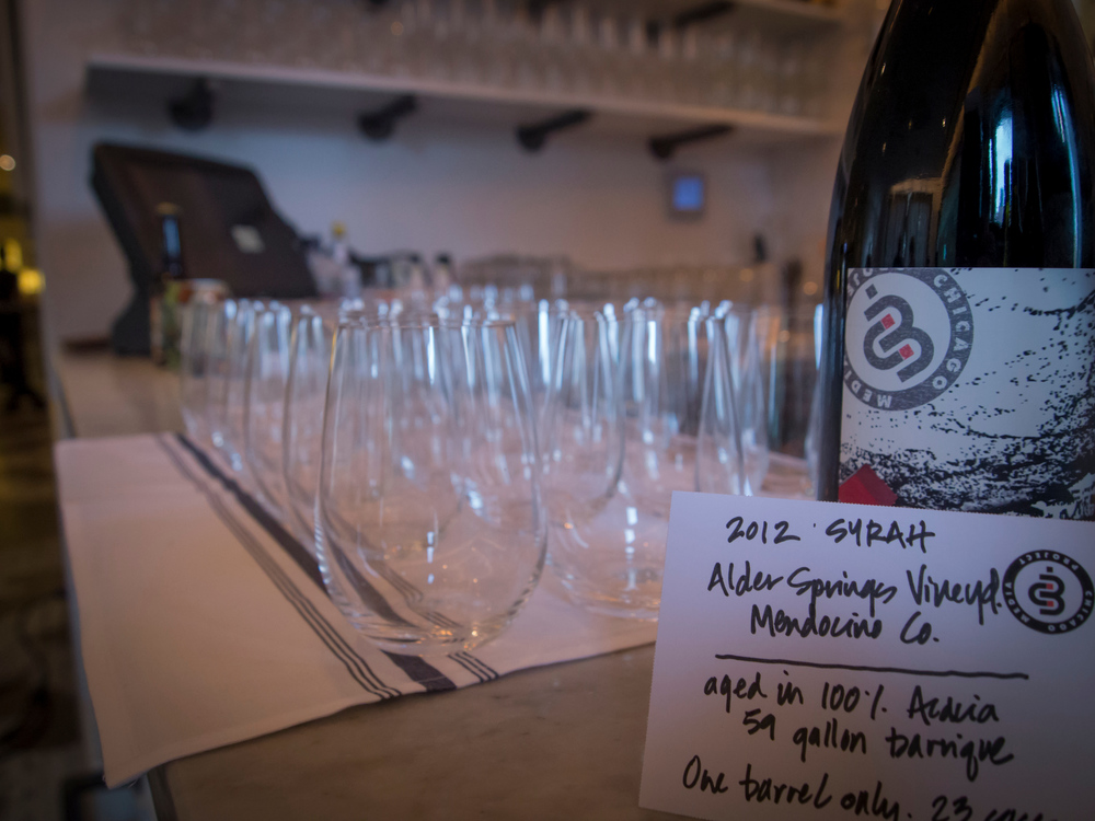 CMP's private label wine unveiled, a 2012 Syrah