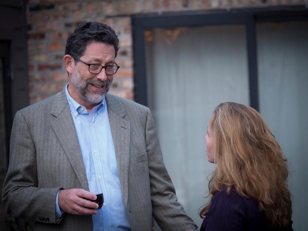 Steve Katz, publisher of San Francisco-basedMother Jones magazine, joined CMP guestsfor the event