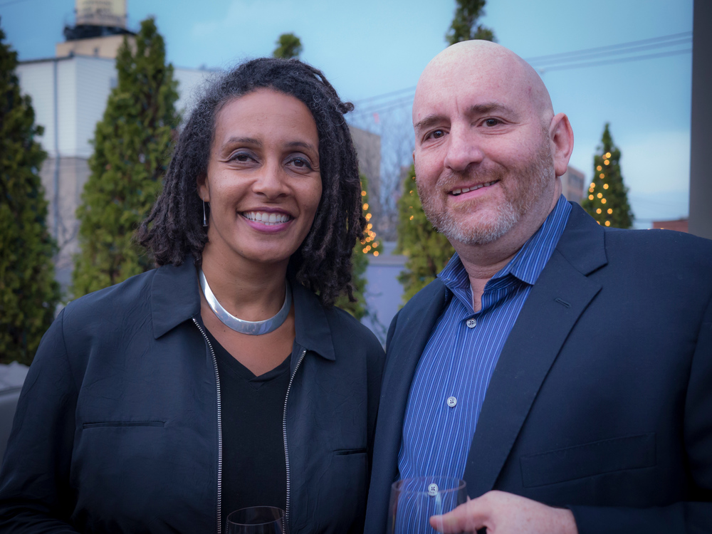 Guest speaker Tabitha Jackson from the Sundance Institute withDanny Alpert, Executive Director of Kindling Group