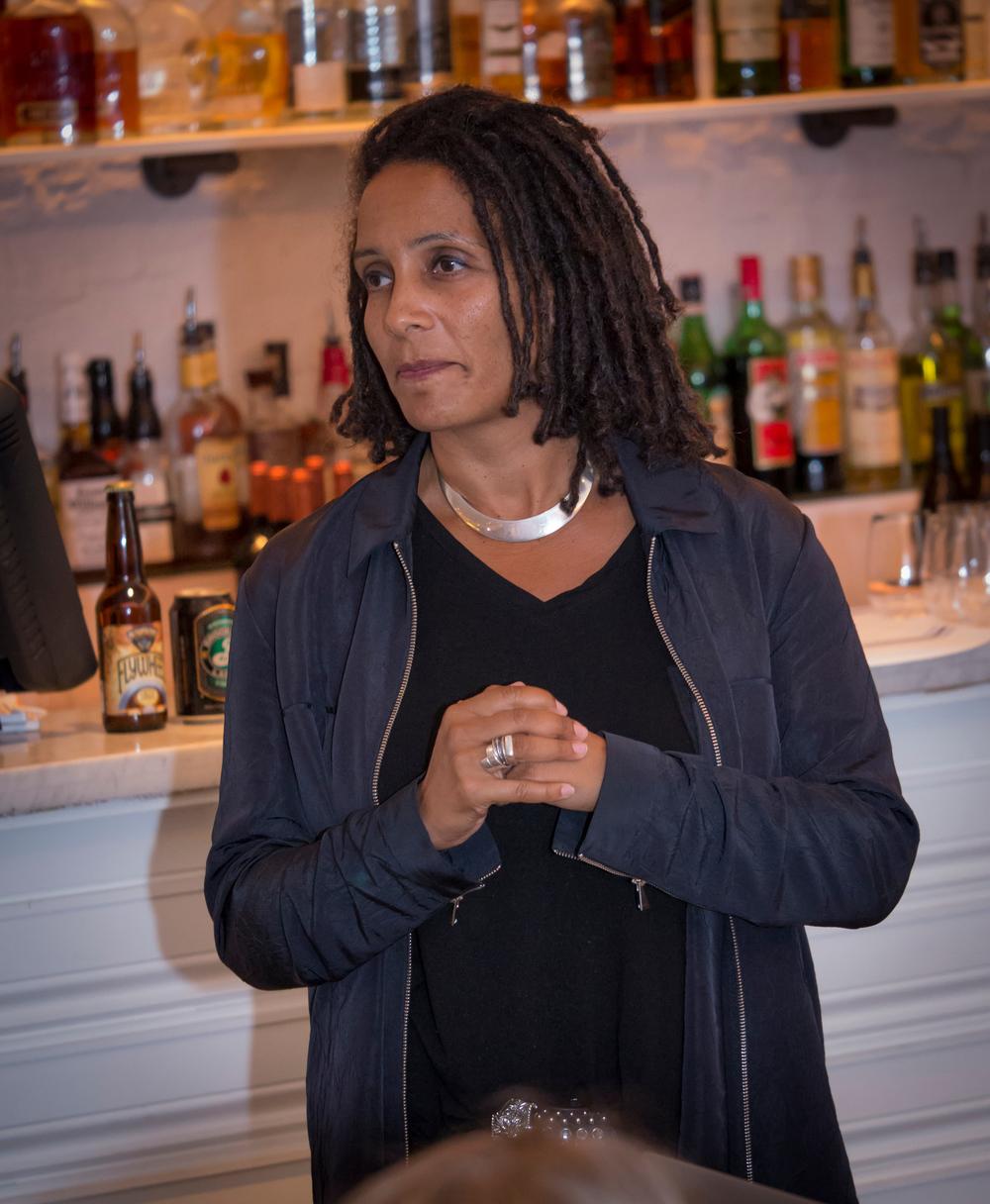 guest speaker Tabitha Jackson, Director of the Documentary Film Program at the Sundance Institute