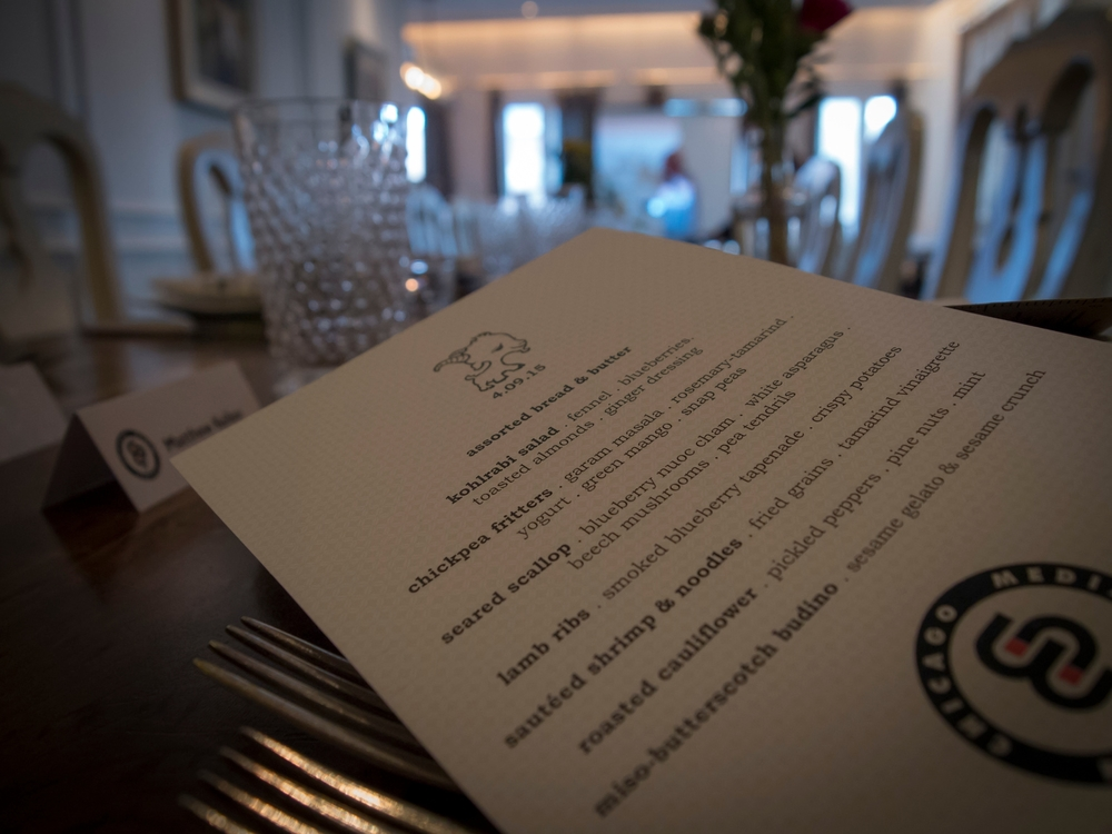 menu for the delicious Big Table Dinner on April 9th at Little Goat