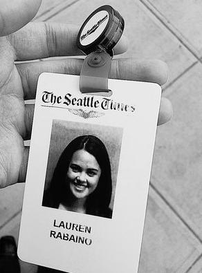 Lauren Rabaino Seattle Times ID Badge