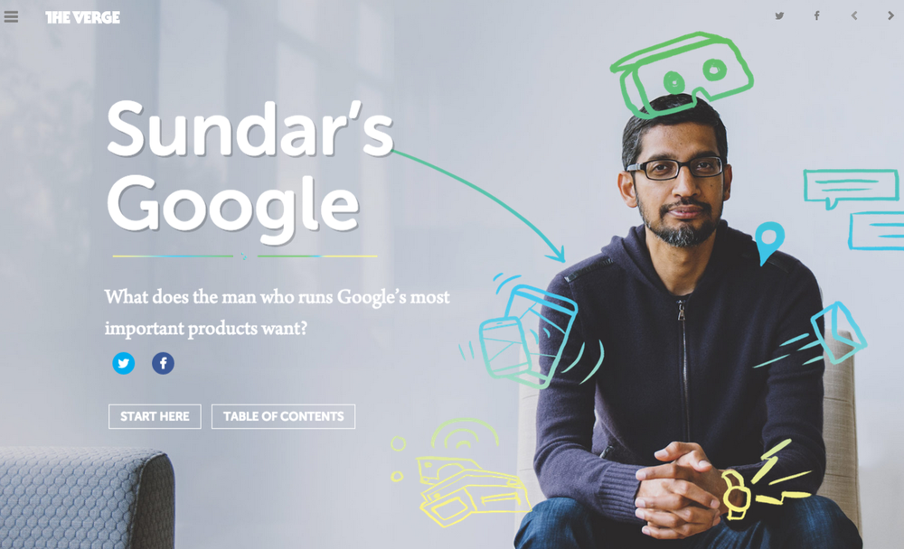 Sundar's Google, The Verge