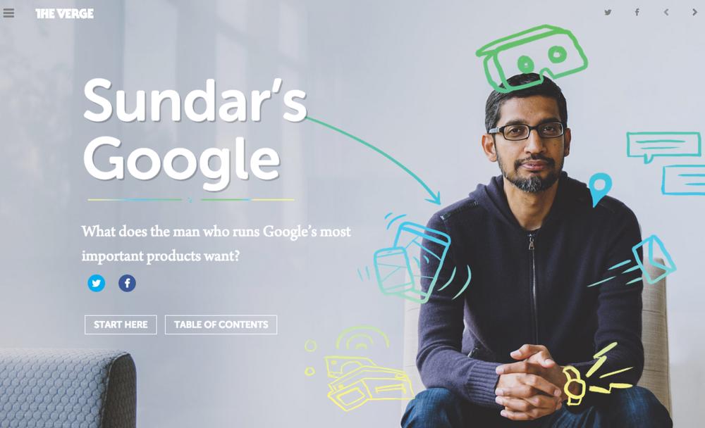 Sundar's Google, The Verge