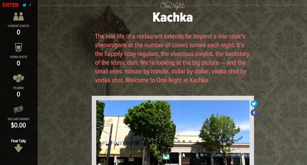 One Night at Kachka, Eater