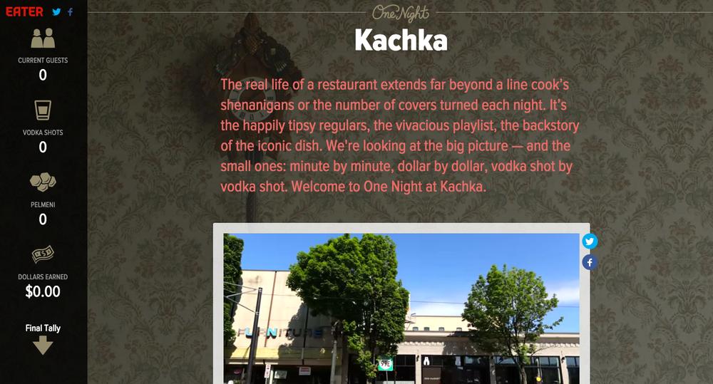 One Night at Kachka, Eater