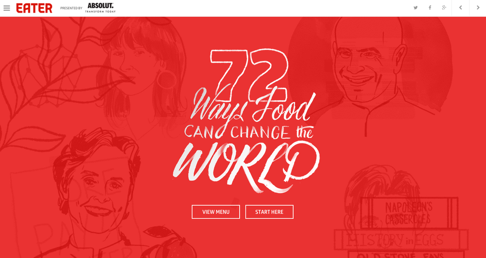 72 Ways Food Can Change The World, Eater